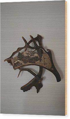 Wild Boars Running Wood Print by Banucu Ioan