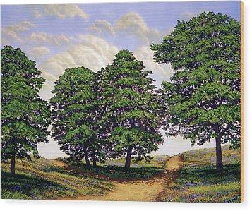 Wild Flower Path Wood Print by Frank Wilson