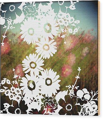 Wild Flowers Wood Print by Jenene Chesbrough