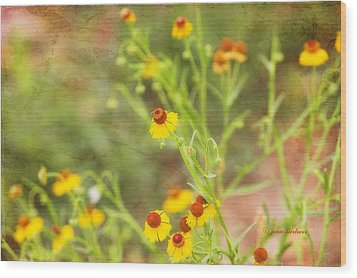 Wood Print featuring the photograph Wild Flowers by Joan Bertucci