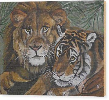 Wild Friends Wood Print by Kim Selig