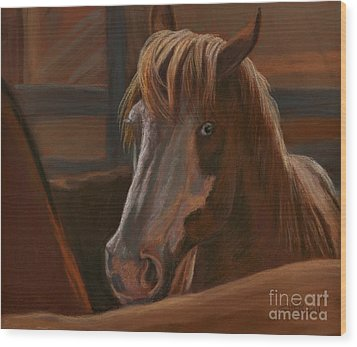Wood Print featuring the painting Wild Hearts Will Not Be Broken by Sheri Gordon