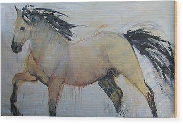 Wild Horse 1 2012 Wood Print