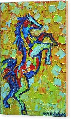 Wild Horse Wood Print by Ana Maria Edulescu