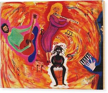 Wild Music Wood Print by Eliezer Sobel