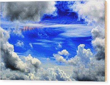 Wild Sky Wood Print by Bob Jackson