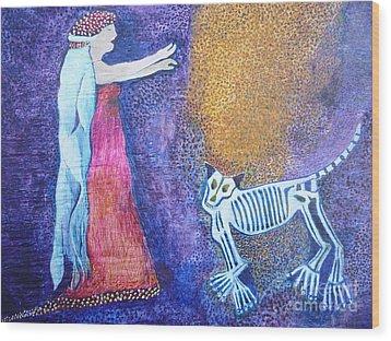 Wild Woman Wood Print by Catherine Meyers