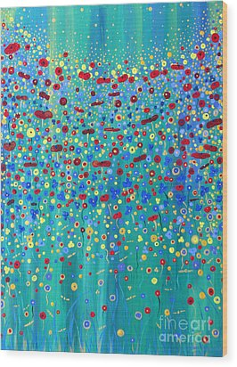 Wildflower Symphony Wood Print by Stacey Zimmerman