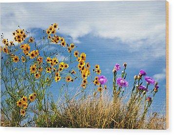 Wildflower Weed Wood Print by Tamyra Ayles