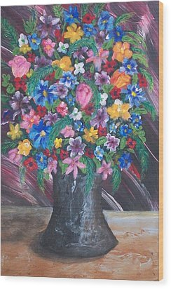 Wildflowers Wood Print by Jeanette Stewart