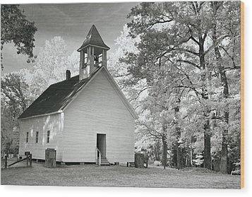 Wood Print featuring the photograph Wildwood Church by Mary Almond