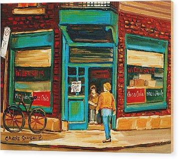 Wilensky's Restaurant Wood Print by Carole Spandau