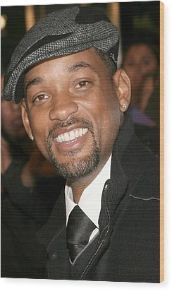 Will Smith At Arrivals For The Day The Wood Print by Everett