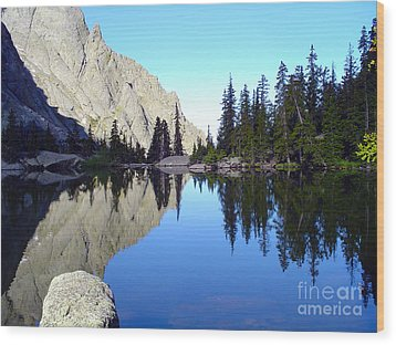 Willow Lake Afternoon Wood Print by Scotts Scapes