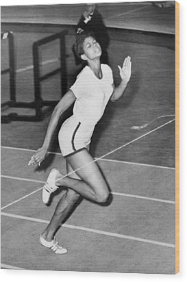 Wilma Rudolph Sets A World Record Wood Print by Everett