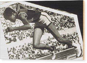 Wilma Rudolph, Winner Of 3 Gold Medals Wood Print by Everett