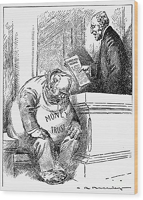 Wilson Cartoon, 1913 Wood Print by Granger
