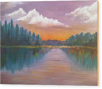 Wilson Lake  Wood Print