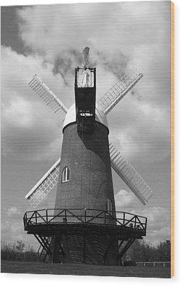 Wilton Windmill Wood Print
