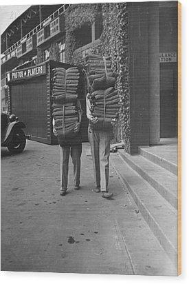Wimbledon Cushions Wood Print by H F Davis