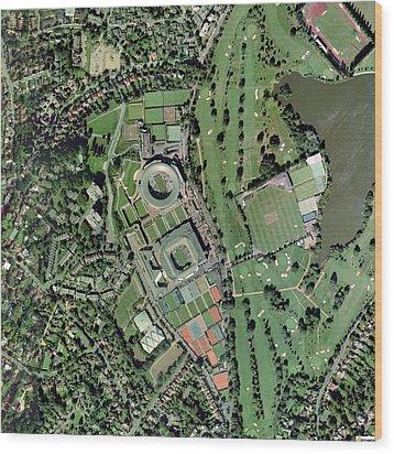 Wimbledon Tennis Complex, Uk Wood Print by Getmapping Plc