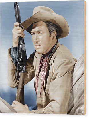 Winchester 73, James Stewart, 1950 Wood Print by Everett