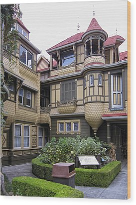 Winchester House - Door To Nowhere Wood Print by Daniel Hagerman