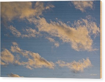 Wood Print featuring the photograph Wind Driven Clouds by Mick Anderson