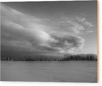 Windblown Cloud Wood Print by Michele Cornelius