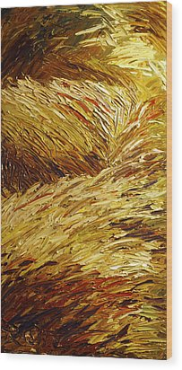 Windblown Grass Wood Print by Raette Meredith