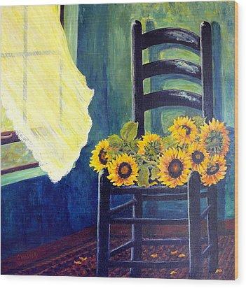 Windfall Wood Print by Carol Ann Wagner