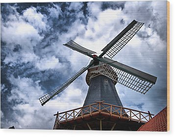 Windmill In Northern Germany 2 Wood Print by Edward Myers
