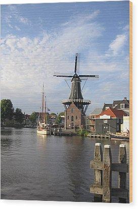 Wood Print featuring the photograph Windmill In The Nederlands by Karen Molenaar Terrell