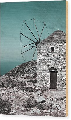 Windmill Wood Print by Joana Kruse