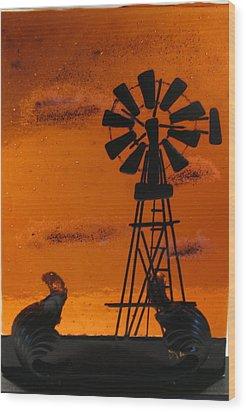 Windmill Wood Print by Lisa Kohn