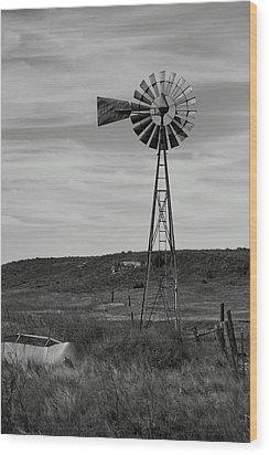Windmill On The Plains Wood Print by Jason Drake