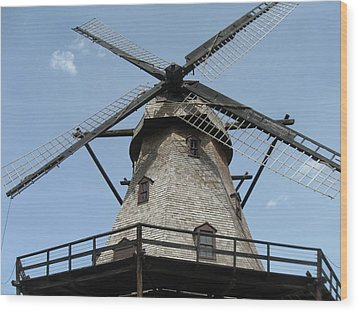 Windmill Wood Print by Todd Sherlock