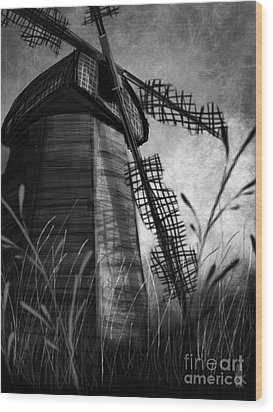 Windmill Wounded Wood Print