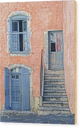 Wood Print featuring the photograph Window And Doors Provence France by Dave Mills