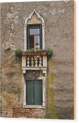 Window Art Venice Wood Print by Forest Alan Lee