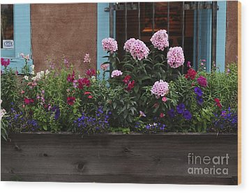 Wood Print featuring the photograph Window-box Flowers  by Sherry Davis