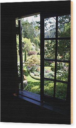 Wood Print featuring the photograph Window Garden by Jerry Cahill
