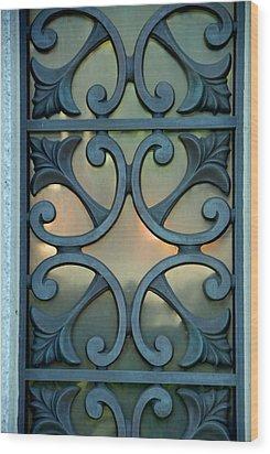 window I Wood Print by Phil Bongiorno