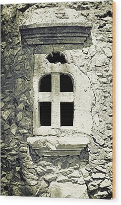 Window Of Stone Wood Print by Joana Kruse