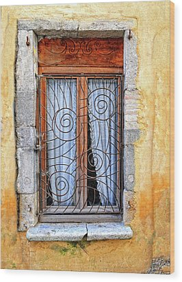 Wood Print featuring the photograph Window Provence France by Dave Mills