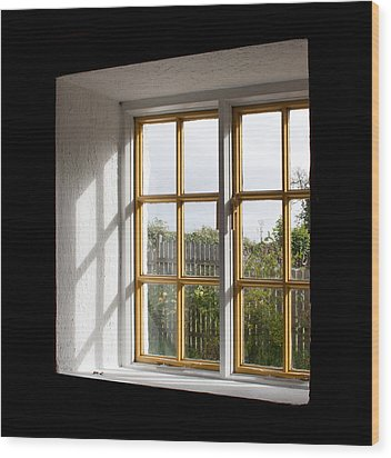 Window  Wood Print by Semmick Photo