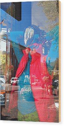 Window Shopping In Aspen Wood Print
