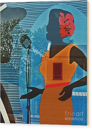 Wood Print featuring the photograph Window To My Soul by Barbara McMahon