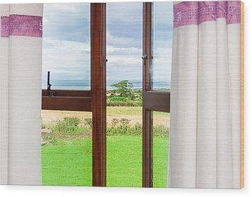 Window View Wood Print by Semmick Photo