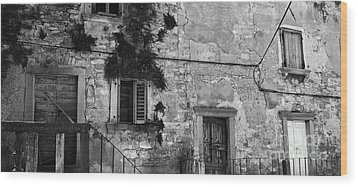 Wood Print featuring the photograph Crumbling In Croatia by Andy Prendy